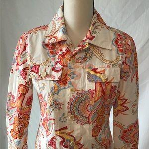 Tommy Hilfiger paisley jean jacket
